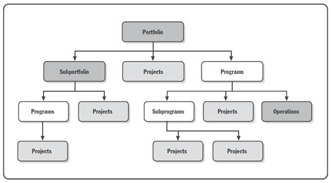 Odnos projekata, programa i portfolija