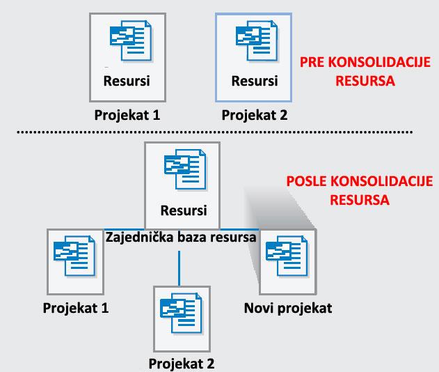 Deljenje resursa na projektima
